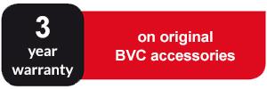 3 years warranty on original BVC accessories
