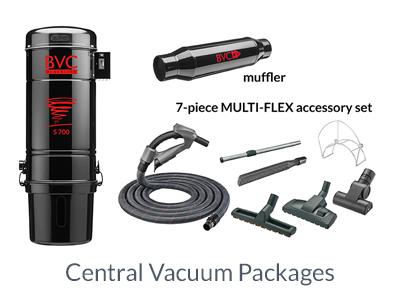 BVC central vacuum package