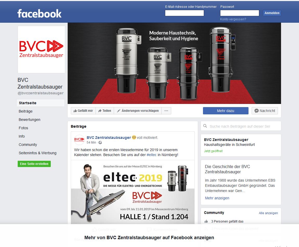 Find BVC on Facebook! 1