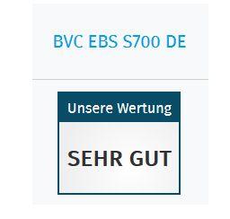 BVC S 700 DE BLACKLINE ist auch 2019 Vergleichssieger 2