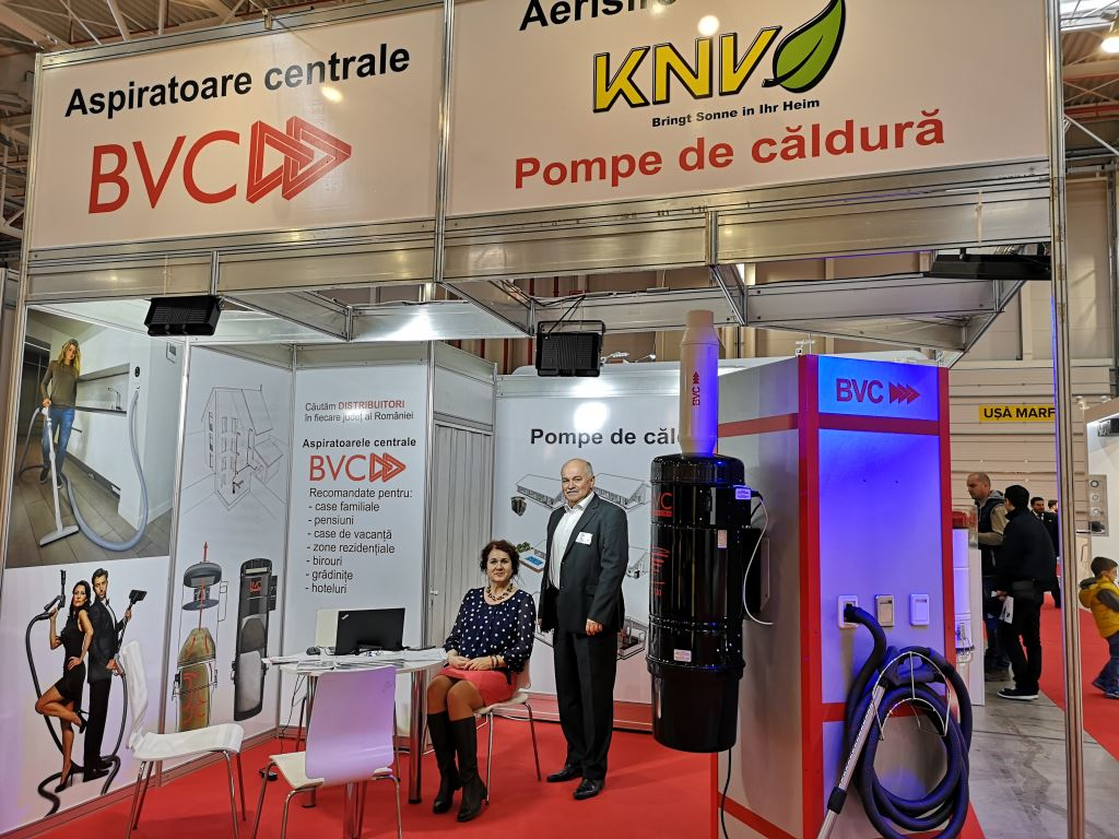 BVC Romania central vacuum cleaners at trade fair in Bucharest
