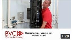 Demontage-BVC-Zentralstaubsauger
