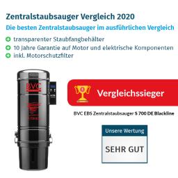 BVC Zentralstaubsauger S 700 DE Blackline ist Vergleichssieger 2020