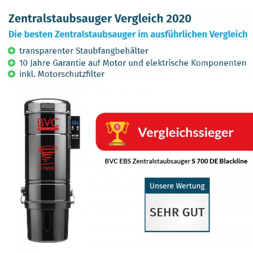 Vergleichssieger BVC Zentralstaubsauger S 700 DE Blackline