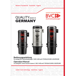 cover BVC operation manual analog