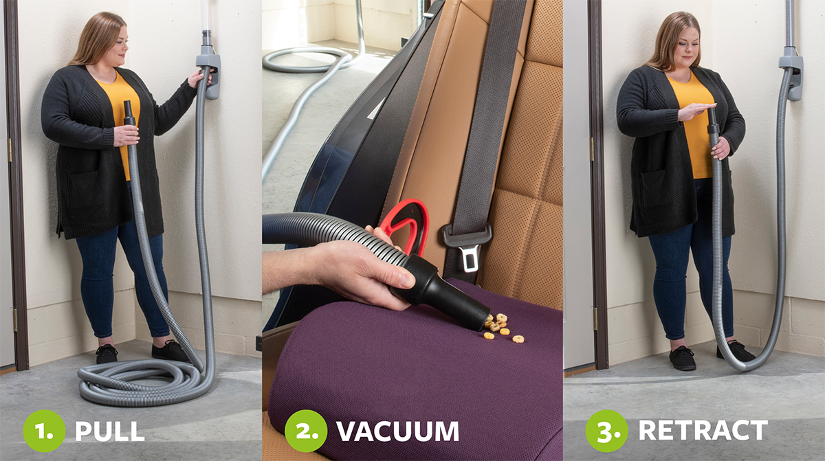 How to vacuum with Vroom Retract Vac in 3 steps