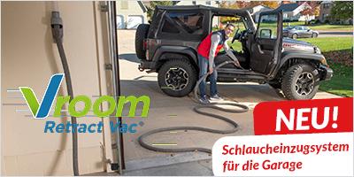 Neu Vroom Retract Vac Schlaucheinzugsystem für die Garage