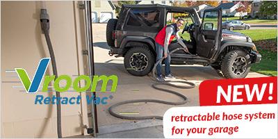 Vroom Retract Vac for your garage